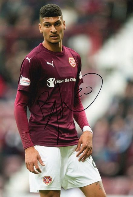 Bjorn Johnsen, Hearts, signed 12x8 inch photo.